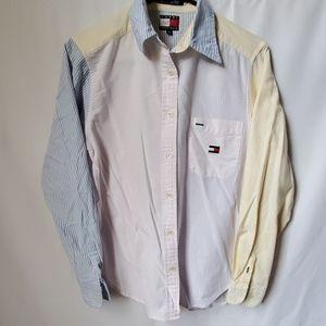 Women's Tommy Hilfiger color block striped shirt